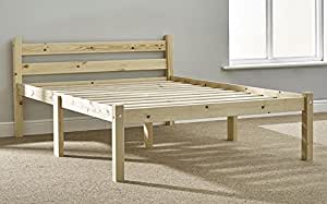 double pine bed 4ft small double pine bed frame heavy duty extra wide solid base