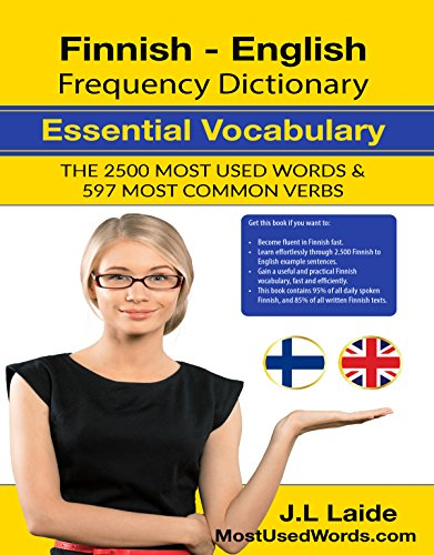 Finnish English Frequency Dictionary - Essential Vocabulary: 2500 Most Used Words & 597 Most Common Verbs (English Edition)