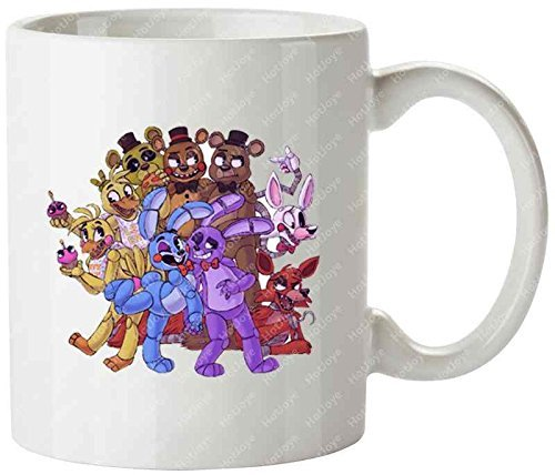 The Gang'S All Here Fnaf Mangle Foxy Bonnie Chica Freddy Fazbear Five Nights At Freddys Cool Mug Tea Cup