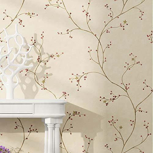 Camera da letto soggiorno carta da parati muro rustico giardino fiore non tessuto carta da parati cartamo
