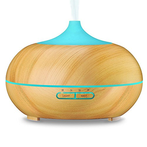 hisMane-300ml-Essential-Oil-Diffuser-Bamboo-Finish-Ultrasonic-Cool-Mist-Humidifier-for-Office-Home-Bedroom-Living-Room-Study-Yoga-Spa