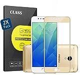 Meizu M6 Note Protector de Pantalla,Alta Definicion (HD) Cristal Vidrio Templado Premium GOGME[Serie protectores pantalla] La protección más simple y eficaz de la pantalla, [2-Unidades] 0,33 mm, 2.5D Round Edge, 9H Dureza, para Meizu M6 Note.oro