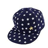 Vovotrade Nouveaux Enfants Bébé étoile Imprimé Hiphop Casquette de Baseball Casquette (2-5 ans ) (Marine)
