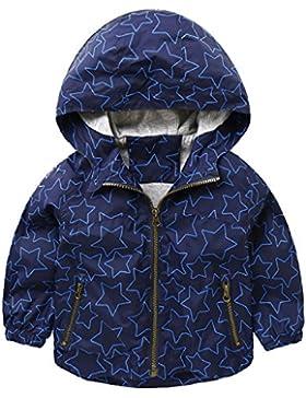RightEuro - Chaqueta con Capucha para Niños Abrigo Otoño invierno Cortaviento con Manga larga Coat Outdoor Kid
