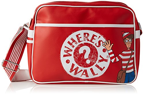 donde-esta-wally-estilo-retro-hombro-bolsa-de-deporte-color-rojo-talla-talla-unica