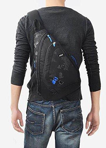 Brustbeutel Herren Umhängetasche Herren Freizeittasche Umhängetasche Sporttasche Wassertropfen Tasche Dreieck Tasche Umhängetasche D