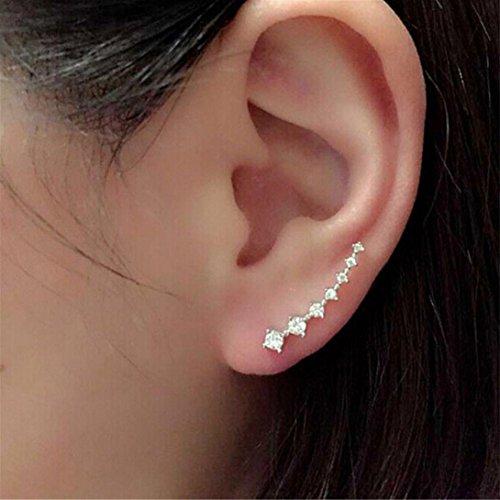 Damen Ohrringe Yesmile Strass Kristall Ohrringe Ohrhaken/Ohrstecker/Partei Ohrringe/Ohrringgeschenke/Schmuck Ohrstecker (Silber)