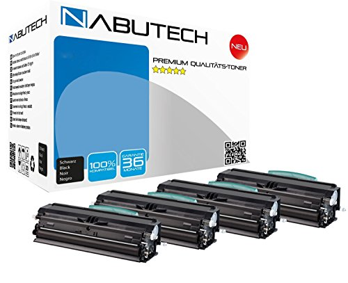 4 Original Nabutech Toner als Ersatz für Lexmark 24016SE/12A8405 Lexmark E230 E232 E234 E238 E240 E330 E332 E340 E342/IBM 1412 IBM Infoprint 1412/Dell 1700 1710 - Ibm Lexmark Ersatz