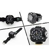 Hangang Watch Taschenlampe - LED-Licht R5 Wiederaufladbare wasserdichte LED-Laufuhr, am besten für Running Biking Bergsteigen Camping Wandern Patrol Hunting