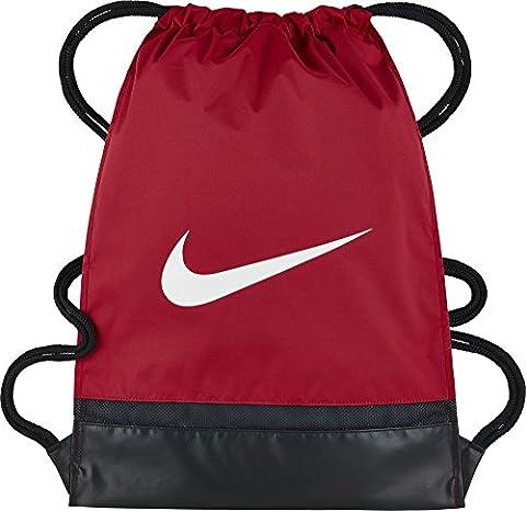 Nike Uni Brasilia Turnbeutel, University Red/Black/White, 43 x 33 x 2 cm