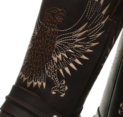 Grinders Bald Eagle Homme Cowboy Bottes, Marron Crazy Horse Dark Brown