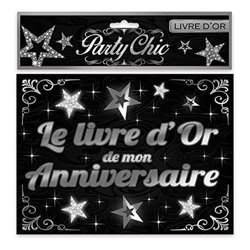 Les Trésors De Lily [Q2584 - Livre d'or 'Mon Anniversaire' Noir argenté - 15.5x21.5 cm