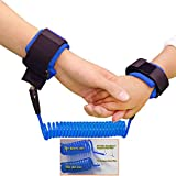 """NALATI """"Standard Quality for Baby"""" Kids Walking Hand Belt baby Anti lost safty wrist link bungee leash Safety Harnesses,Travelling helper (Blue)"""