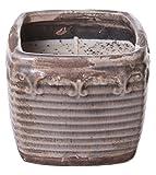 Swan Creek Vela de cera de soja americana, 10 onzas de lavanda y limón, en cerámica cuadrada vintage