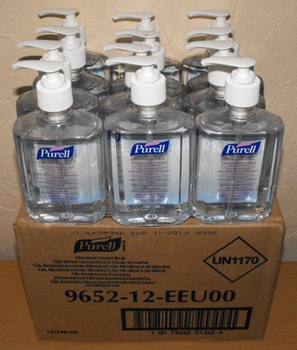 12-x-240ml-purell-instant-hygienic-hand-sanitizer-gel-rub-pump-bottle-medical-bn