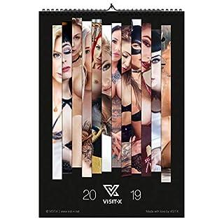 Der neue Erotik-Kalender 2019 von VISIT-X, A3 Wandkalender aus hochwertigem Bilderdruckpapier, Akt-Kalender mit 12 erotischen Livecam-Models
