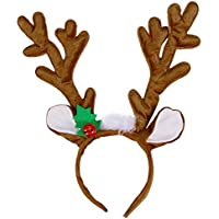 Toyvian Diadema de Navidad Aro de Cuerno Reno Cabello aro para la Fiesta de Disfraces de Navidad