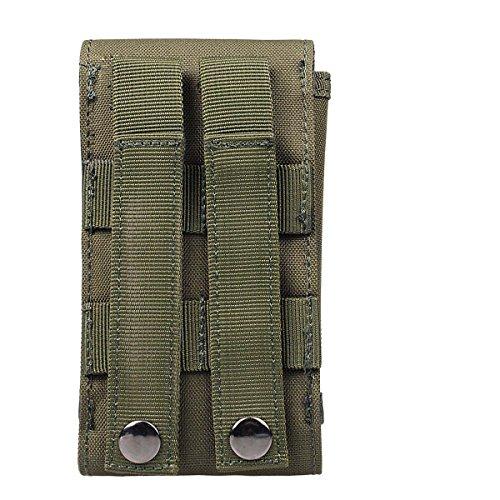 xhorizon(TM)MW8 1000D Handy BeutelAußen MOLLE Armee Camo CamouflageTaschenhakenSchleife Gürteltasche Holster Hülle für Multi Handy Modell #A2 Armee Grün