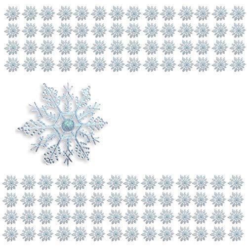 Banberry Designs Schneeflocke Christmas Ornaments-Pack of 243,8-10,2cm hängen Schneeflocken mit Saiten-Schneeflocke Ornaments