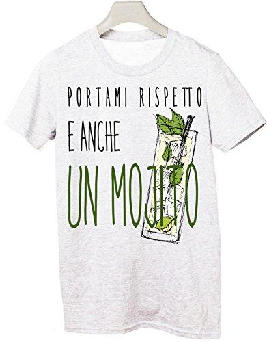 Tshirt portami rispetto e anche un mojito - Tutte le taglie by tshirteria Bianco