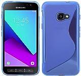 ENERGMiX S-Line TPU SchutzHülle für Samsung Galaxy Xcover 4 (G390F) Silikon Hülle Etui Case Cover Silikontasche Silikonschale in Blau