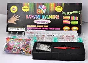 COLOURFUL RAINBOW LOOM 600 RUBBER BANDS BRACELET MAKING KIT