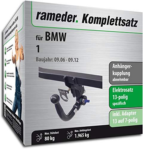 Rameder Komplettsatz, Anhängerkupplung abnehmbar + 13pol Elektrik für BMW 1 (152964-05114-1)