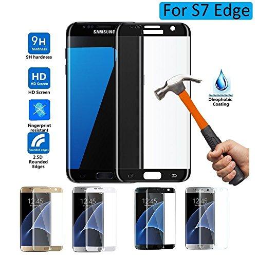 Magicmoon Galaxy S7 Edge Pellicola Protettiva, 3D Curvo La Copertura a Tutto Schermo Premio Vetro Temperato Proteggi Schermo Film per Samsung Galaxy S7 Edge HD Pulire (Nero)