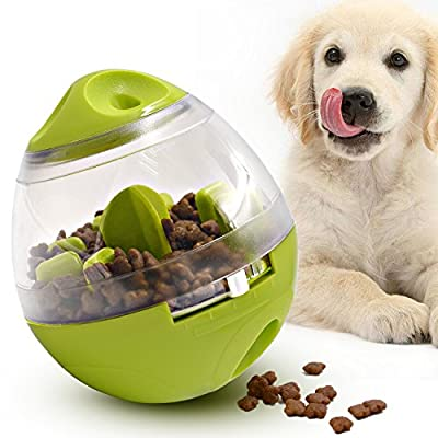 Lefon Dog Food Toys, Pet Treat Dispenser Interactive Ball for Feeding Playing Training IQ