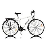 KCP 28' Trekking Bike Bicycle Men ARA Alloy with 21 Speed Shimano White - (28 Inch)