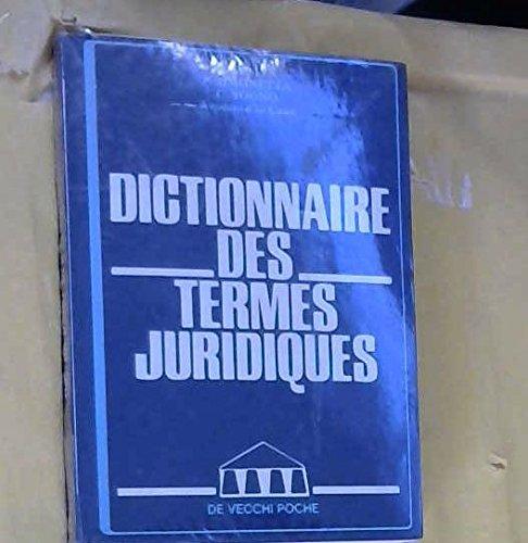 Dictionnaire des termes juridiques