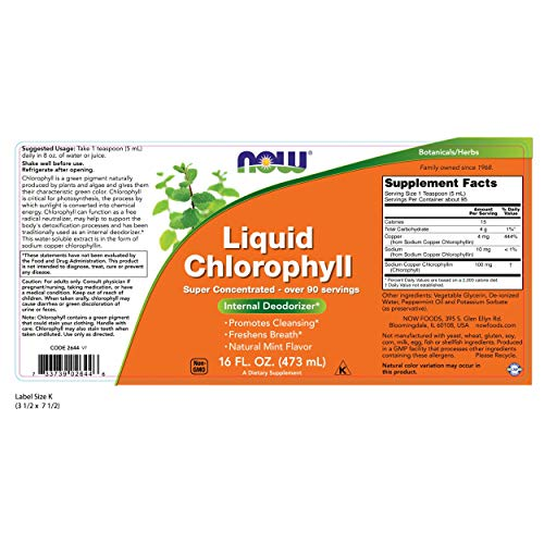 NOW Chlorophyll Liquid, 473 ml