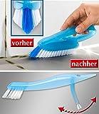 WENKO Fugenbürste Fugenreinigungsbürste incl. Zusatzbürste für Bad WC Dusche