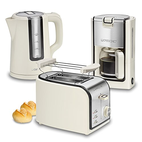 Clatronic-Retro-Set-desayuno-Cafetera-8-a-10-tazas-Tostadora-Hervidor-de-Agua-17-l-crema