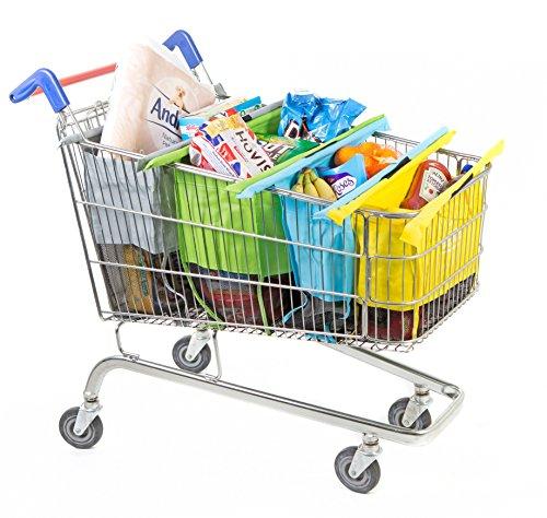 * Trolley Bags – 4 Buste Per Carrello della Spesa, Vari Colori prezzo