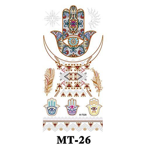 adgkitb Europäische und amerikanische Tattoo Aufkleber MT-026 10.2x21cm