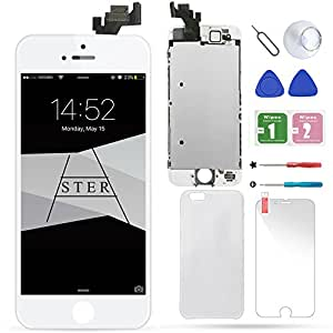 iPhone 5 LCD Display Screen Replacement Touch Digitizer Full Assembly for with Preassembled Components (Home Button