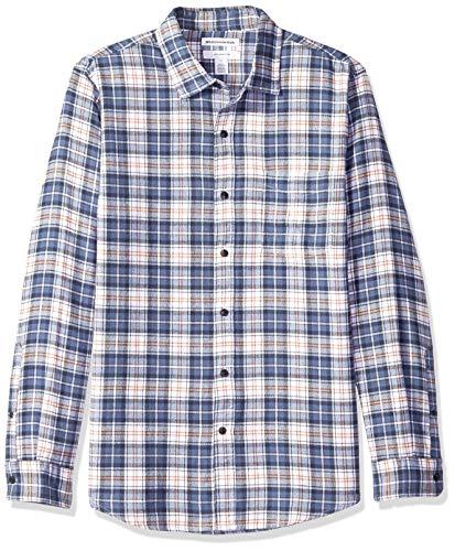 Amazon essentials camicia in flanella scozzese a maniche lunghe uomo