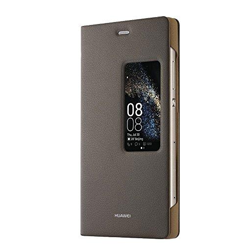 Huawei P8 View Flip Tasche braun