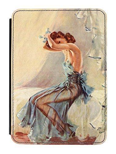 Preisvergleich Produktbild Pin Up Girl Blue Nightdress Hülle für iPad Mini PU Leather Flip Case Cover Designed by David Wright