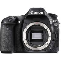 كاميرا كانون EOS 80D هيكل فقط - 24.2 ميجابكسل، دي اس ال ار، اسود