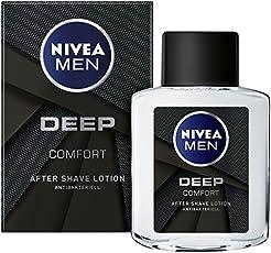 NIVEA MEN DEEP After Shave im 6er Pack (6 x 100 ml), Aftershave pflegt die Haut nach der Rasur, antibakterielle und regenerierende Gesichtspflege