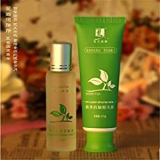 Green tea permanent hair removal cream hair removal cream armpit legs privates arm body hair removal for men and women S251H