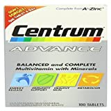 Centrum Advance Multivitamin and Multimineralism – Pack of 100 Tablets