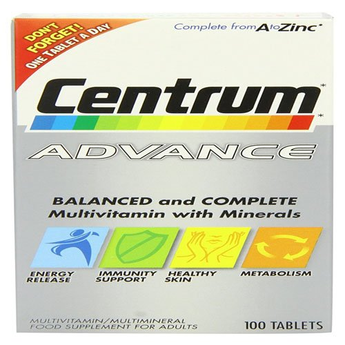 Centrum Advance Multivitamin and Multimineralism - Pack of 100 Tablets
