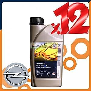 OLIO MOTORE AUTO GM OPEL OIL DEXOS 2 5W30 Sintetico - 12 Litri