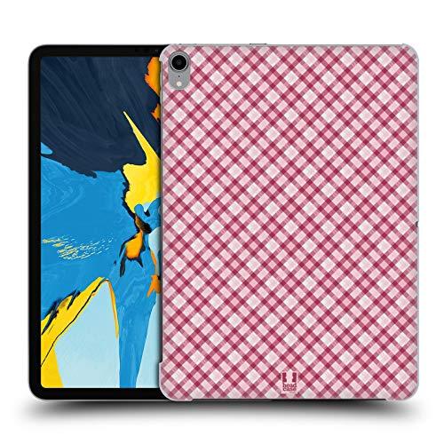 Head Case Designs Hot Pink Plaid - Muster Kollektion Harte Rueckseiten Huelle kompatibel mit iPad Pro 11 (2018) Hot Pink Plaid Design