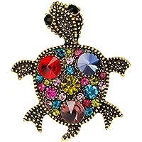Xuniu Brosche, Schildkröte Strass Meeresschildkröte Brosche Schmuck mit Hochzeit rot