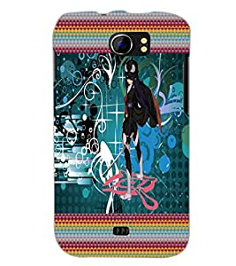 PrintDhaba Fantasy Girl D-6023 Back Case Cover for MICROMAX A110 CANVAS 2 (Multi-Coloured)