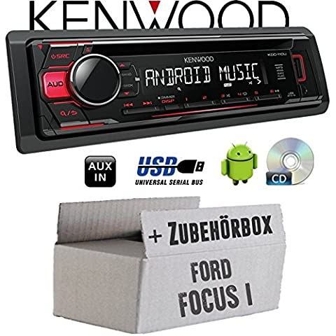 Ford Focus 1 - Kenwood KDC-110UR - CD/MP3/USB Android-Steuerung - Autoradio - Einbauset